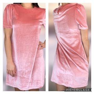 🆕 🌻 WAYF Pink Velvety Dress Crushed Velvet